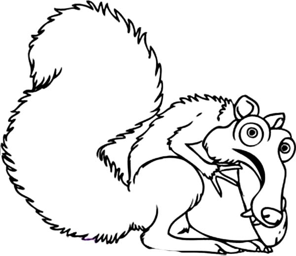 600x520 Scrat The Saber Tooth Squirrel Is Animals Of The Ice Age Coloring