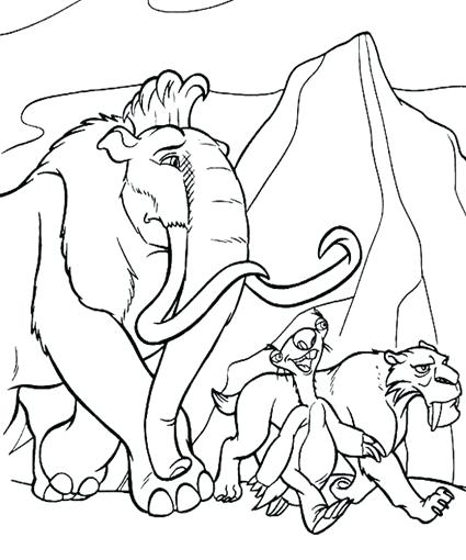 425x510 As Well As Homely Design Ice Age Coloring Page Ice Age Coloring