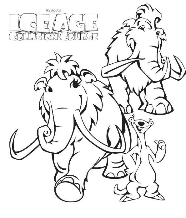 595x695 Ice Age Coloring Pages Kids N Fun Coloring Pages Of Ice Age