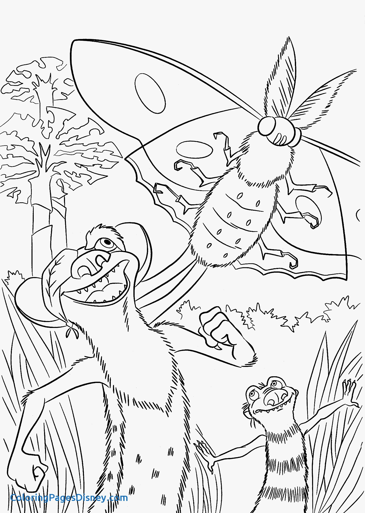 1483x2079 Coloring Pages Yoyo Unique Buck From Ice Age Coloring Pages