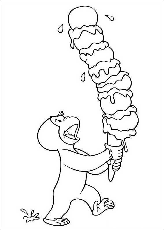 567x794 Free Curious George Coloring Pages For Kids