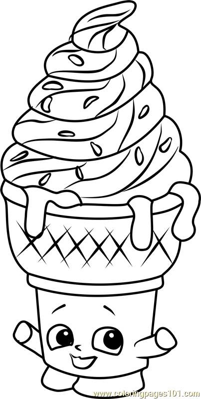 403x800 Ice Cream Dream Shopkins Coloring Page