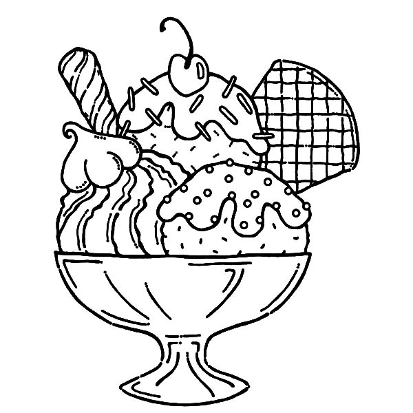 600x600 Sensational Idea Ice Cream Coloring Pages Adult Cone Theme