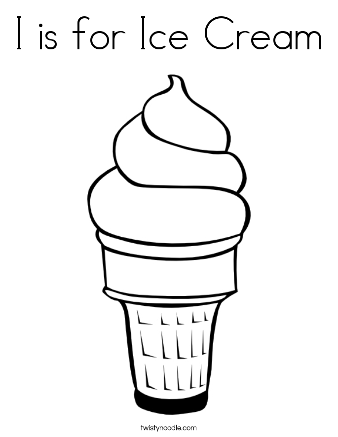 685x886 I Is For Ice Cream Coloring Page