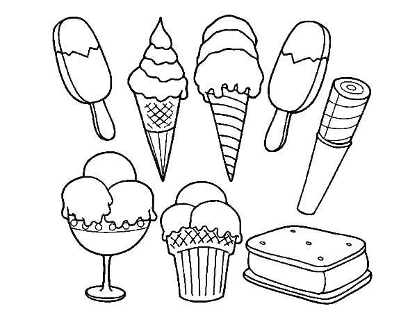 600x464 Ice Cream Cone Coloring Printables