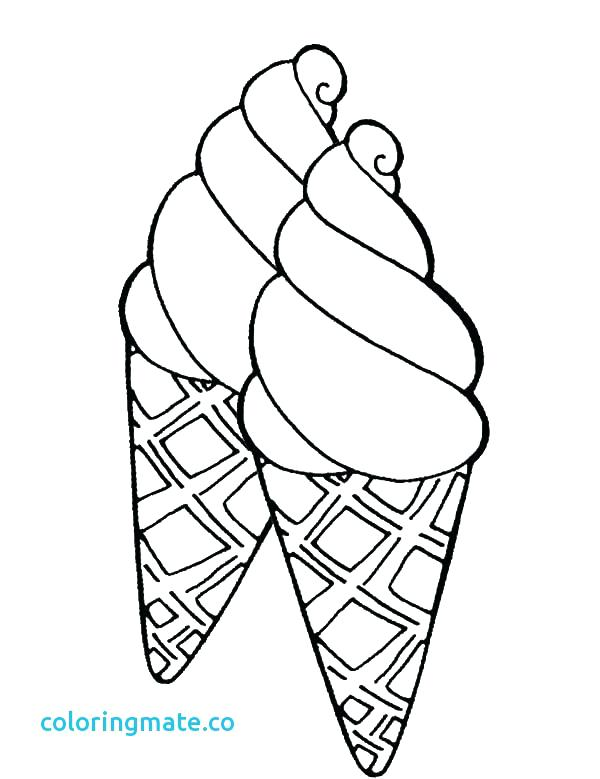 Ice Cream Coloring Pages For Kids At Getdrawings Com Free For