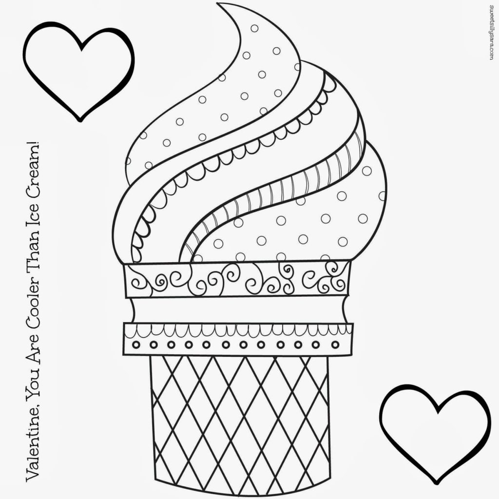 1024x1024 Ice Cream Cone Coloring Page Hipster Pages Viewing Gallery