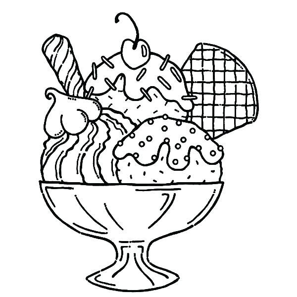 600x600 Ice Cream Cone Coloring Page Ice Cream Coloring Page Ice Cream
