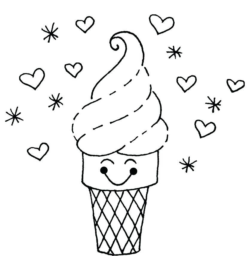 836x858 Ice Cream Cone Coloring Page Ice Cream Cone Coloring Sheet Also