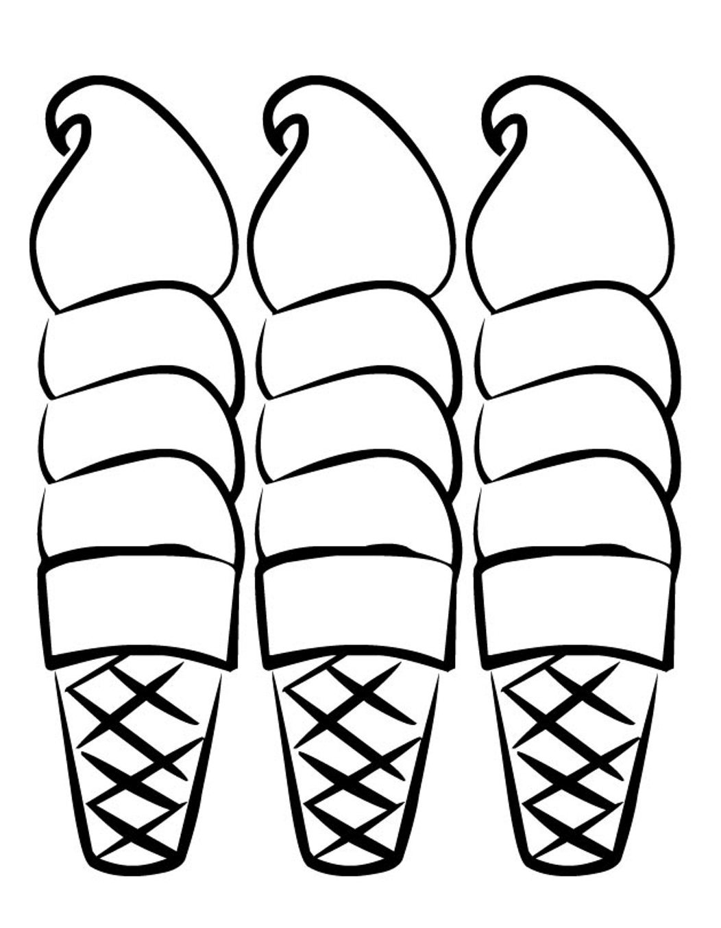 Ice Cream Cone Coloring Page at GetDrawings.com | Free for personal ...