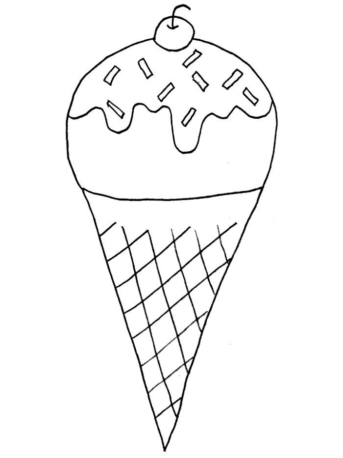 700x933 Printable Coloring Pages Ice Cream Cone For Kids
