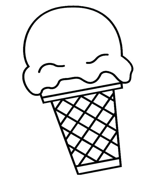 600x743 Coloring Pages Ice Cream Cone Ice Cream Cone Coloring Also Drawing