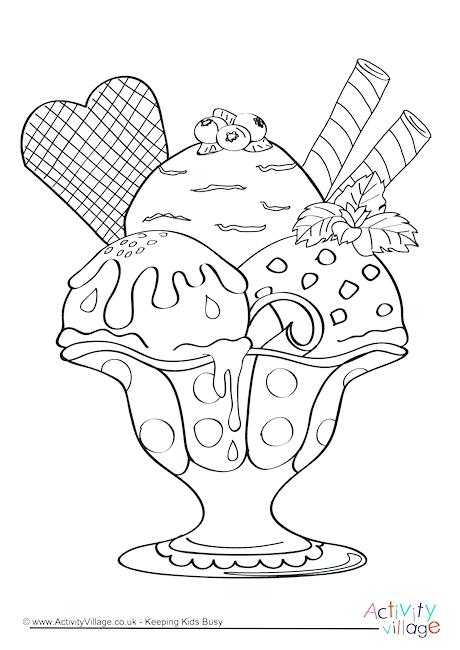 460x650 Ice Cream Color Page Three Sweet Ice Cream Cone Coloring Pages Ice