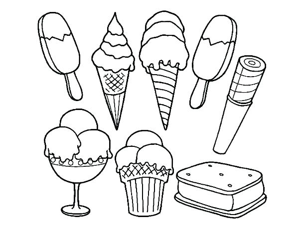 600x464 Ice Cream Scoop Coloring Also Coloring Pages Ice Cream Cone