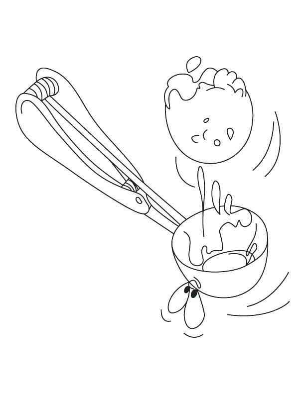 612x792 Ice Cream Scoops Coloring Pages Ice Cream Scoops Coloring Pages
