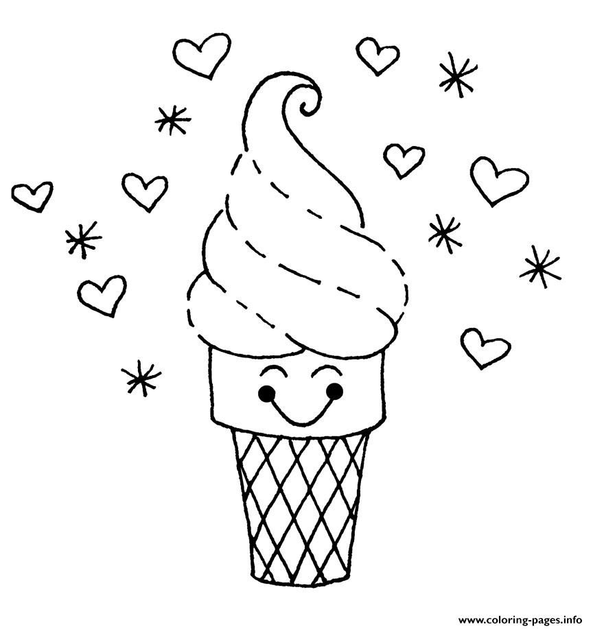 864x917 Powerful Ice Cream Sundae Coloring Page Printable Pages For Kids