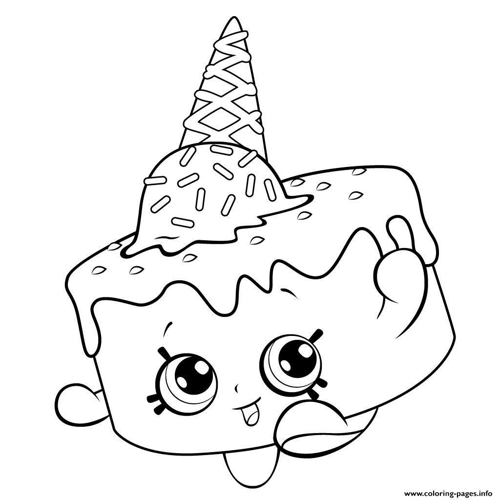 1024x1024 Shopkins Coloring Pages Of Ice Cream Scoops On Each Other Free
