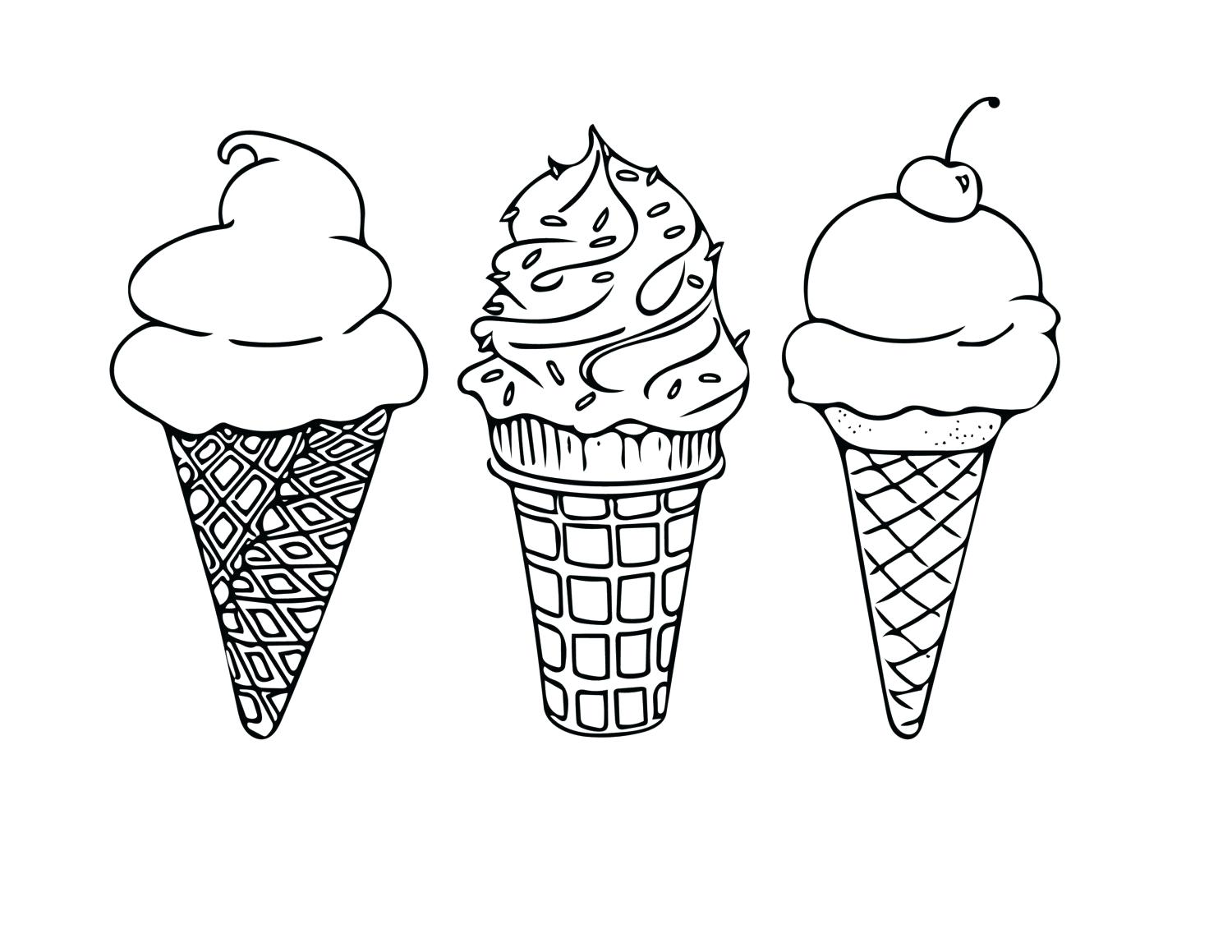 1500x1159 Coloring Pages Ice Cream Coloring Pages Fresh Cone Sheet