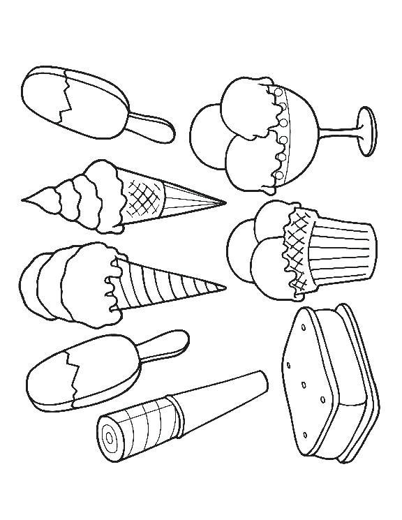 576x745 Ice Cream Scoop Coloring