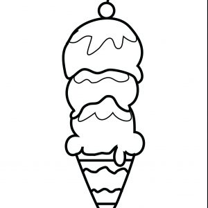 300x300 Coloring Pages Ice Cream Scoops New Printable Ice Cream Scoop