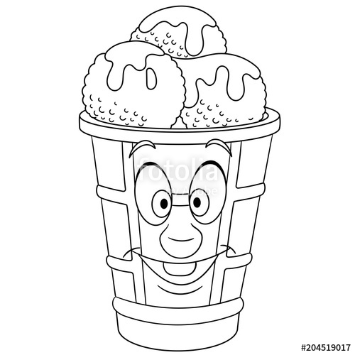 500x500 Coloring Book Coloring Page Colouring Picture Ice Cream Scoop