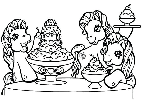 Ice Cream Shop Coloring Page At Getdrawings Com Free For Personal