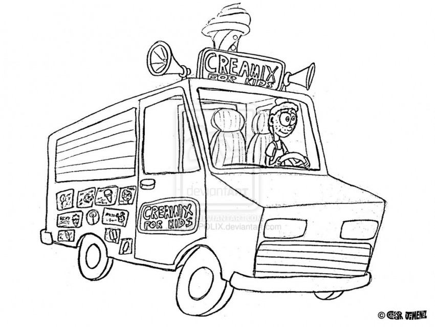850x638 Ice Cream Truck Coloring Page Az Coloring Pages Coloring Pages Ice