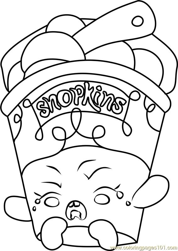 566x799 Ice Cream Dream Shopkins Coloring Page
