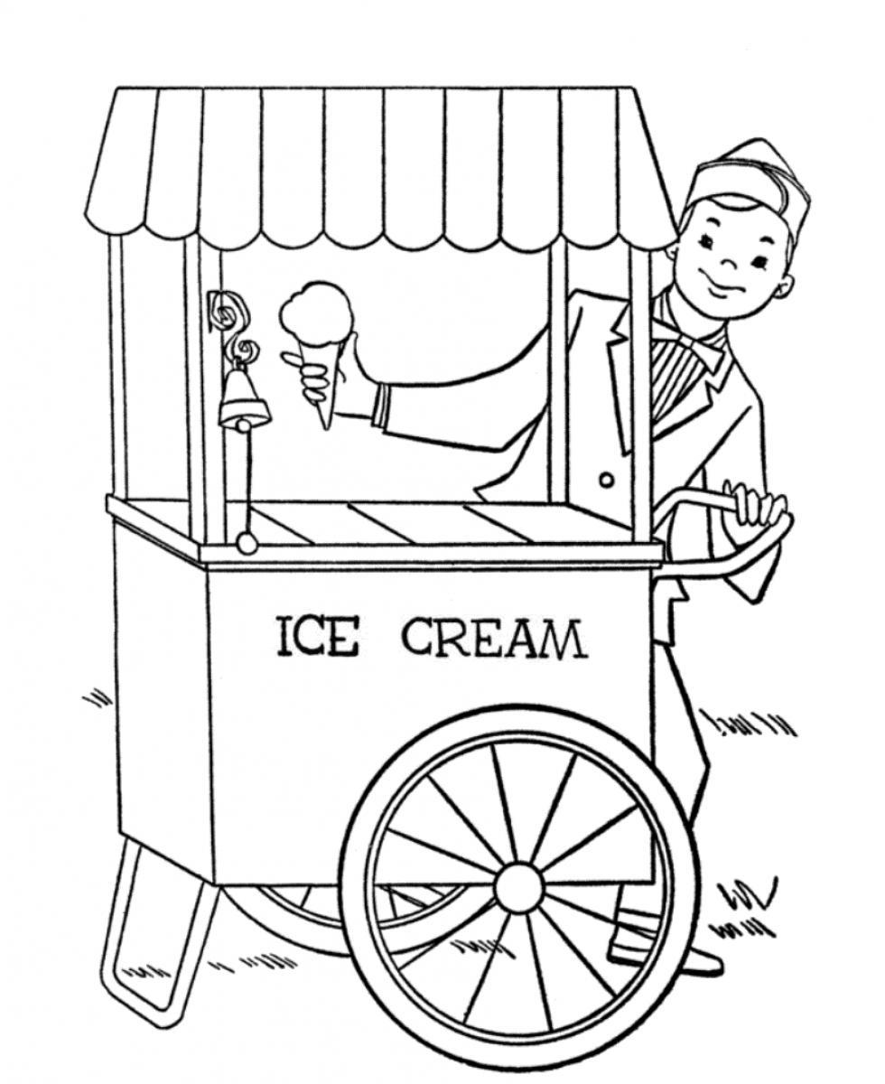 980x1200 Ice Cream Parlor Coloring Pages Download And Print For Free