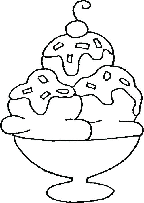 500x705 Ice Cream Sundae Coloring Sheets Ice Cream Sundae Coloring Page