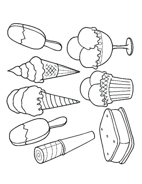 576x745 Ice Cream Sundae Coloring Template And Free Printable Ice Cream