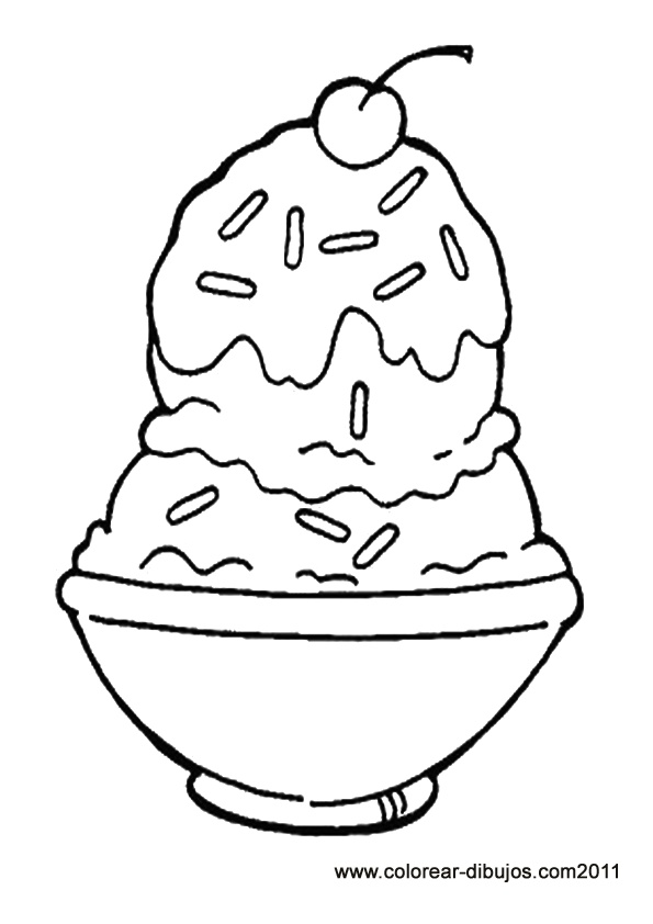 595x842 Sundae Coloring Page Ice Cream Sundaes Colouring Pages Ice