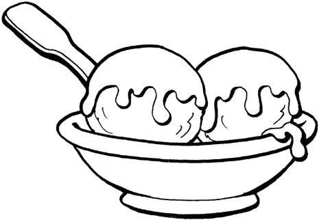 465x322 Ice Cream Sundae Coloring Template And Ice Cream Coloring Pages