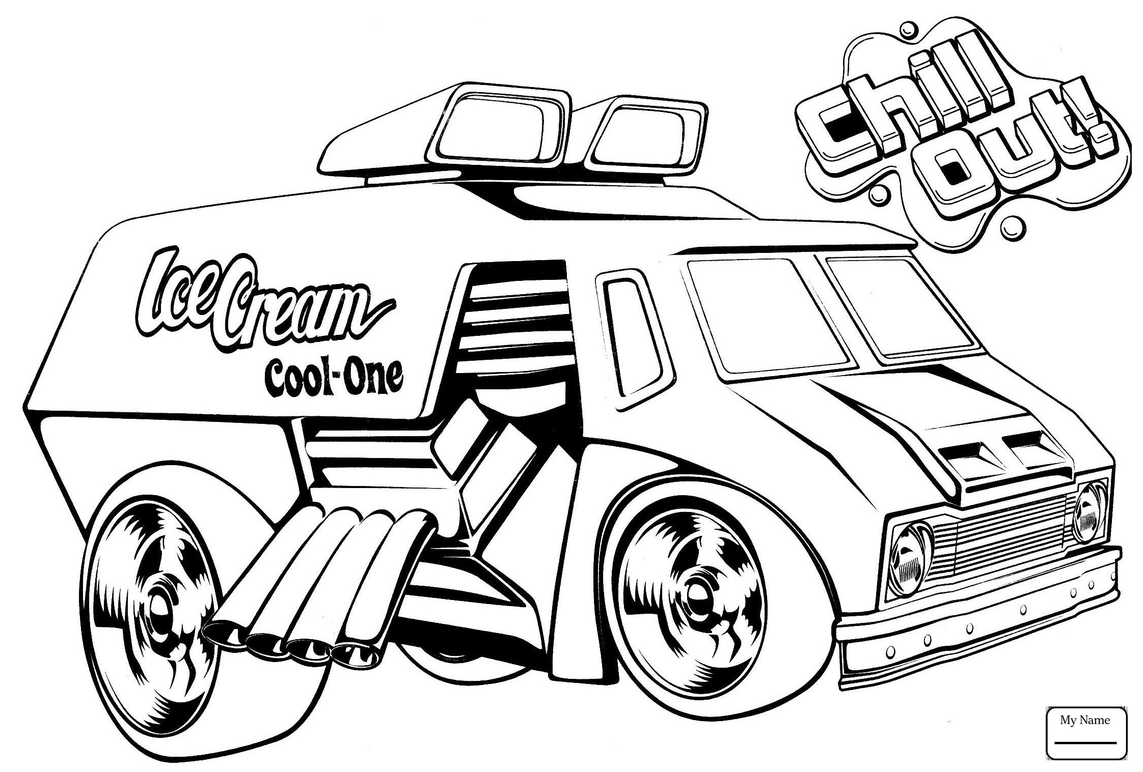 2244x1517 Hot Wheels Ice Cream Truck Coloring Pages Download Coloring