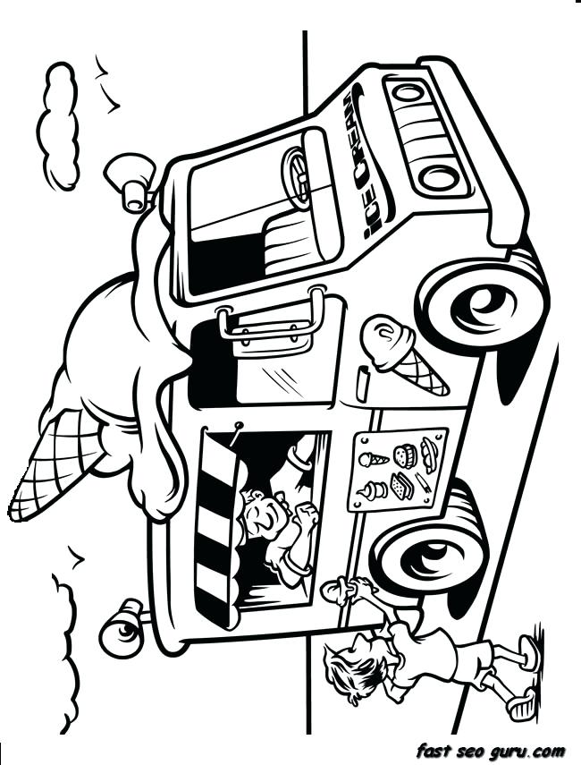 650x855 Ice Cream Coloring Page Printable Ice Cream Truck Coloring