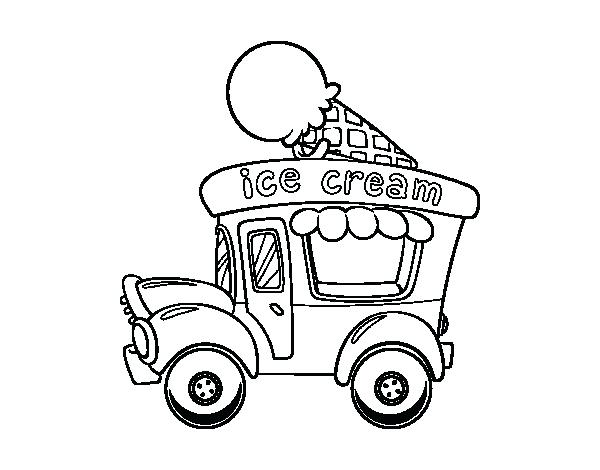 600x470 Trucks To Color Rainbow Ice Cream Food Truck Coloring Page Trucks