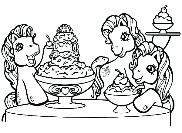 600x440 Coloring Pages Ice Cream