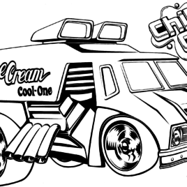 268x268 Coloring Pages Ice Cream Truck Archives