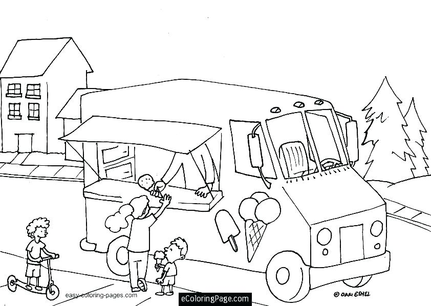 842x598 Coloring Pages Ice Cream Truck Images Of As Well And On Printable