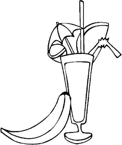 400x476 Drinks Coloring Pages