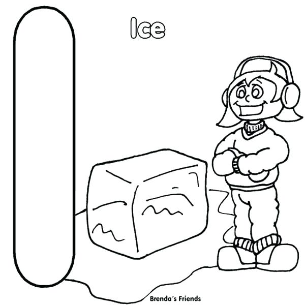 600x600 Ice Coloring Pages Letter I Is For Ice Coloring Page Ice Skating