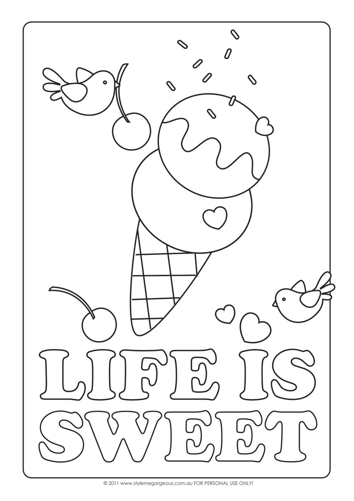 1131x1600 Ice Cream Coloring Pages