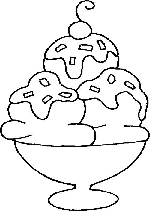 500x705 Ice Cream Sundae Coloring Pictures Also Ice Cream Sundae Coloring
