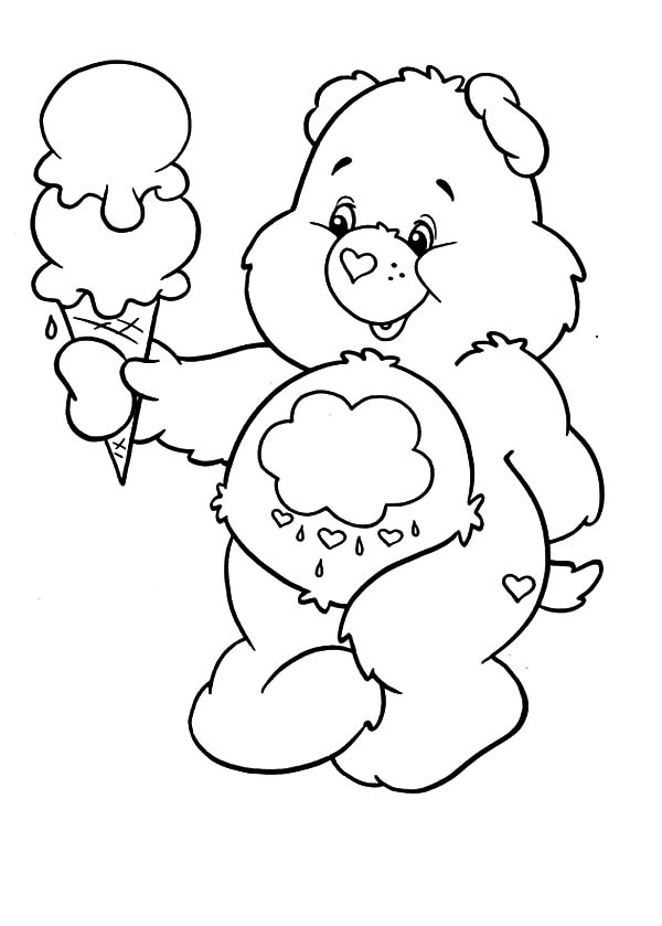 600x839 Care Bears Melting Ice Cream Coloring Pages Best Place To Color