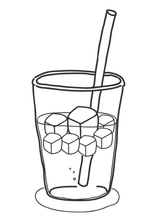 531x750 Coloring Page Icecubes In Drink