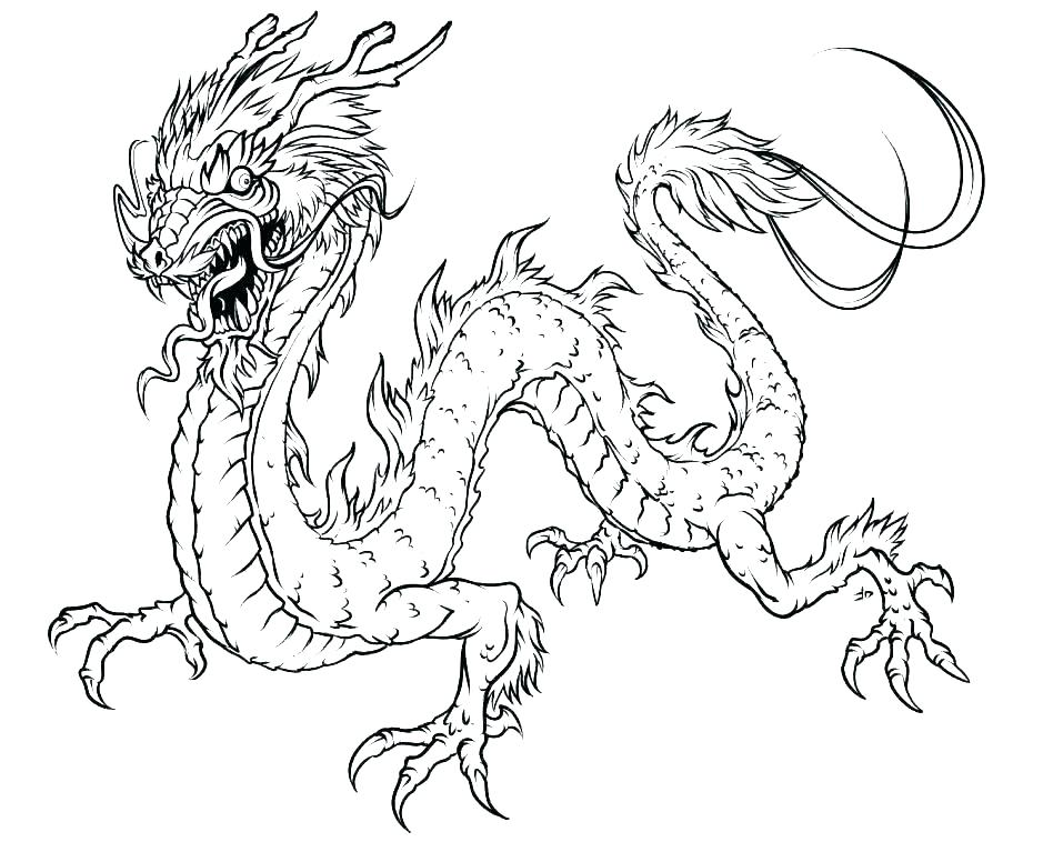 Ice Dragon Coloring Pages