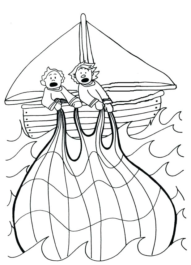 618x856 Fishing Coloring Pages Fishing Boat Coloring Pages The Miraculous