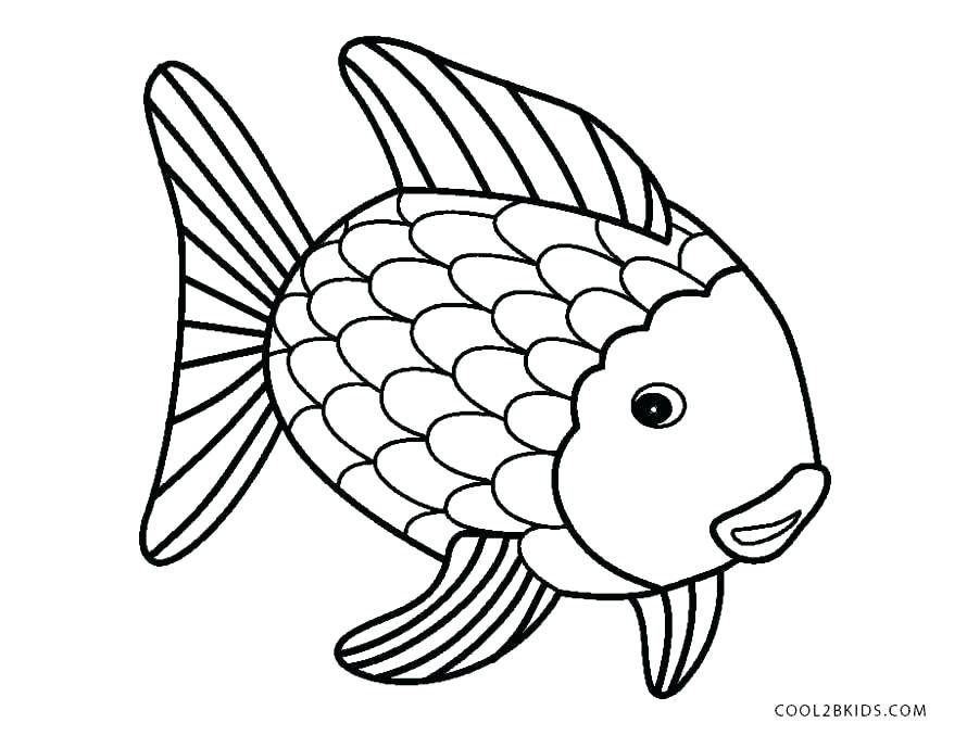 890x689 Coloring Pages Of Fish Cute Fish Coloring Page Free Printable