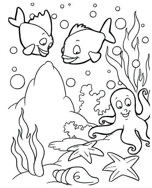 485x600 Fishing Coloring Pages