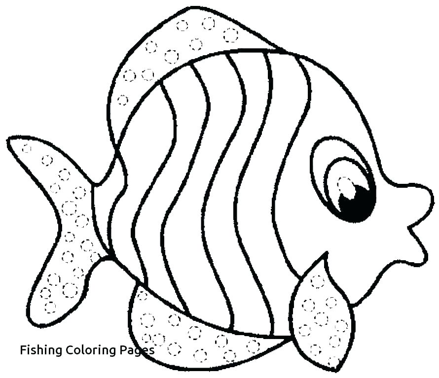 890x767 Fishing Coloring Pages